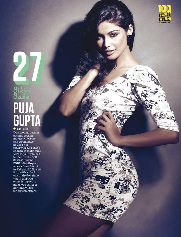 Puja Gupta Made 27th Spot In FHM Magazine Top 100 Sexiest Women On September 2013 Issue