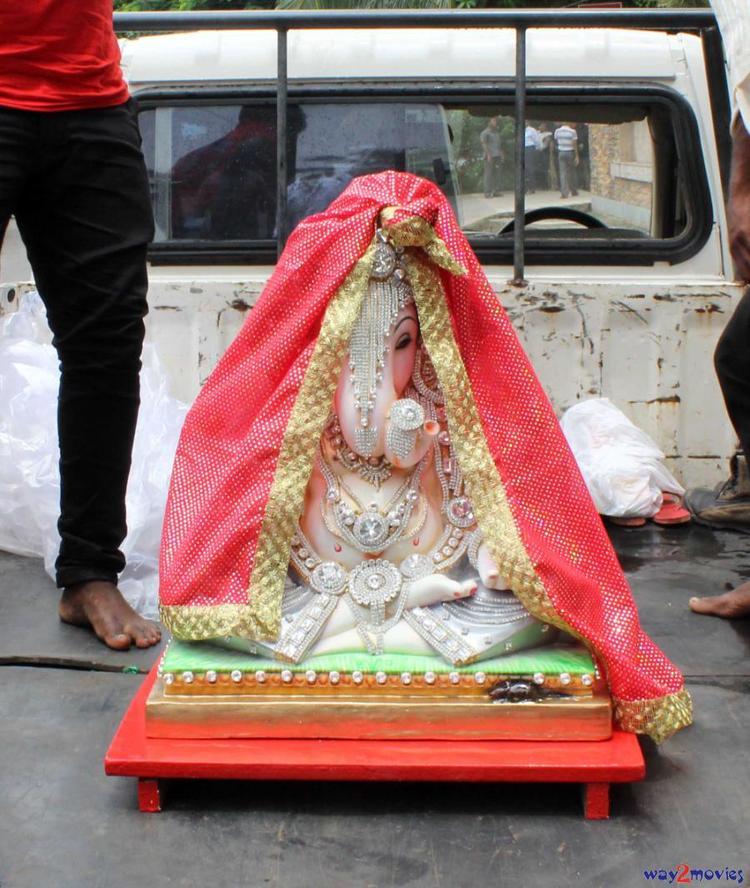 Lord Ganesh Nice Photo Still At Arpita's Ganpati Celebrations 2013