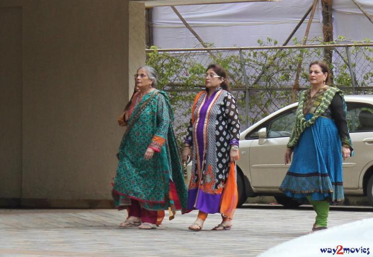 Salma Khan At Her Daughter Arpita's Ganpati Celebrations 2013