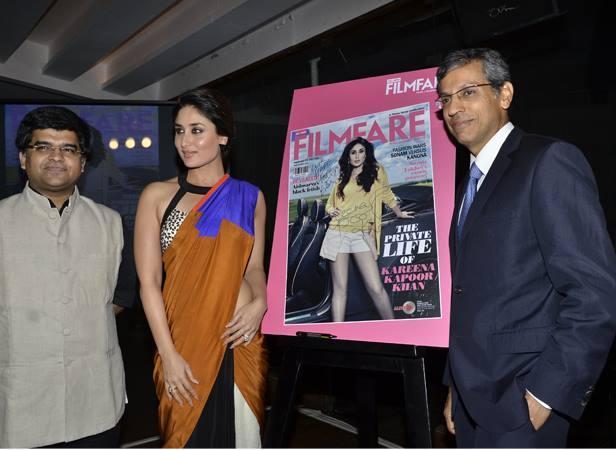 Kareena Kapoor During The Launch Of Filmfare September 2013 Issue In Mumbai.