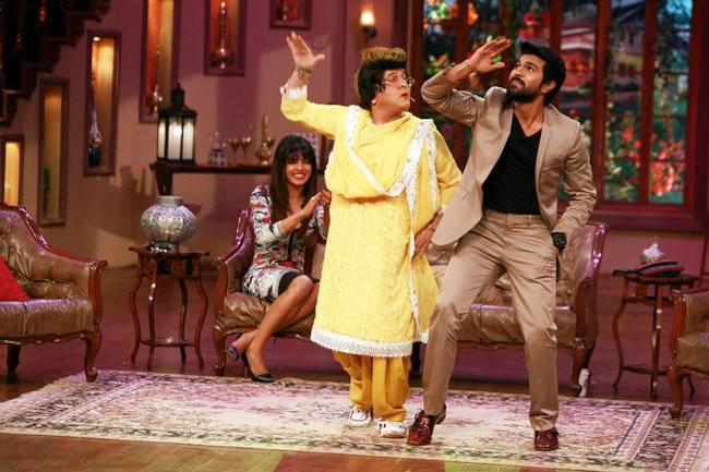 Ali Asgar And Ram Charan Funny Acting, Priyanka Cool Look On The Sets Of Comedy Nights With Kapil