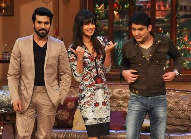 Ram Charan,Priyanka And Kapil Posed For Sutterbugs On The Sets Of Comedy Nights With Kapil