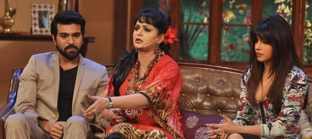 Upasana,Priyanka And Ram Charan Cool On The Sets Of Comedy Nights With Kapil