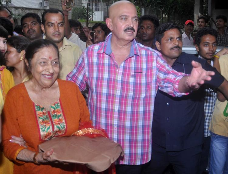 Rakesh Roshan Snapped At Lord Ganpati Visarjan Celebrations