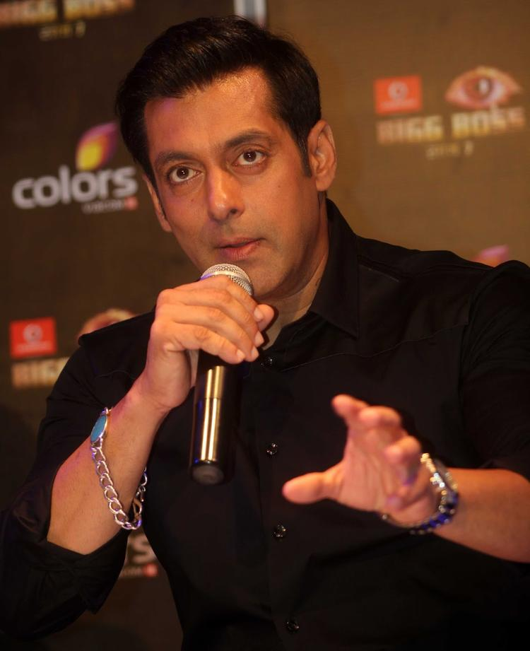 Salman Khan Addresses The Audience At Bigg Boss 7 Press Launch Event