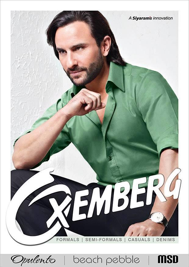 Saif Ali Khan Cute Handsome Look For Oxemberg Clothing Print Ad