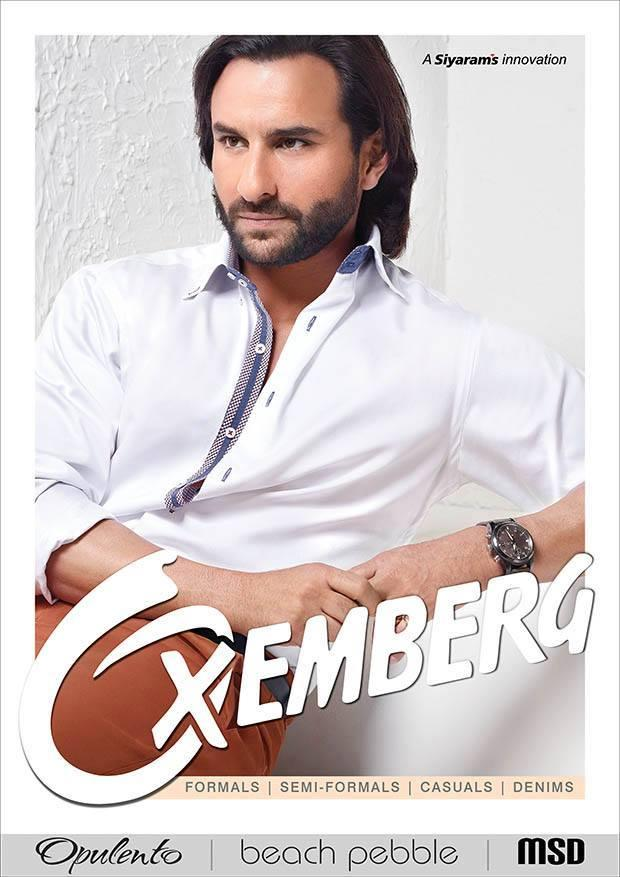 Saif Ali Khan Dazzling Look For Oxemberg Clothing Print Ad