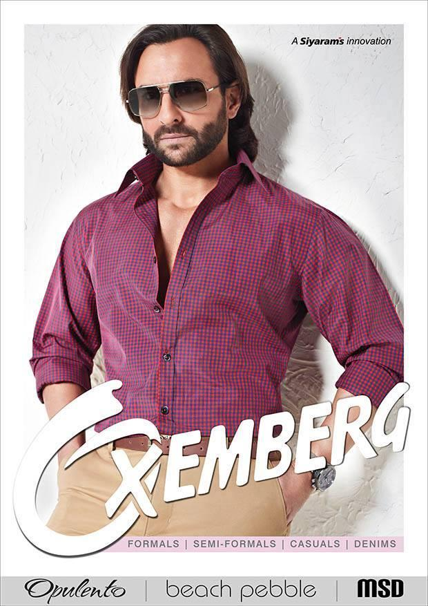 Saif Ali Khan Glamour And Stylish Look For Oxemberg Clothing Print Ad