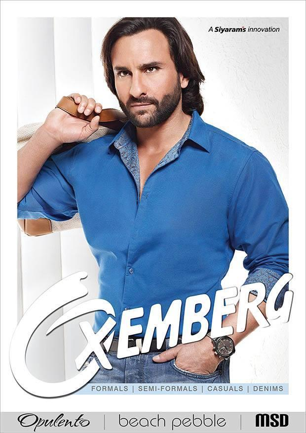 Saif Ali Khan Nice Dapper Look Shoot For Oxemberg Clothing Print Ad