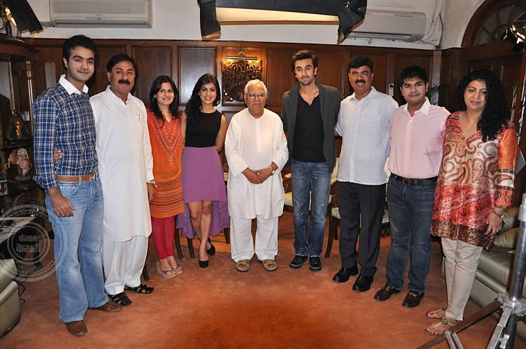 Pallavi,Ranbir And Others Posed For Camera During The Promotion Of Besharam At Jalandhar