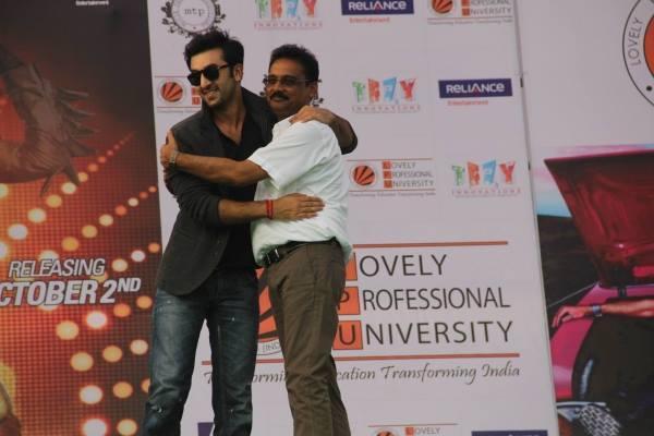 Ranbir Kapoor Cool Smiling Look During The Promotion Of Besharam At Jalandhar