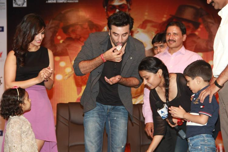 Ranbir Take The Cake And Pallavi Cool Look During The Promotion Of Besharam At Jalandhar