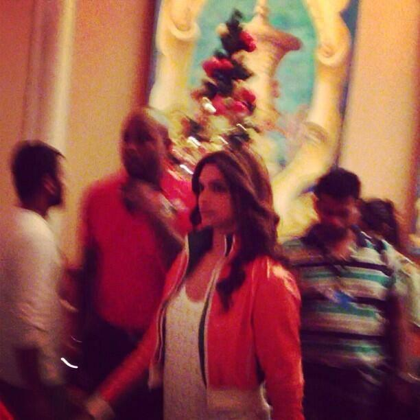 Deepika Padukone On The Sets Of Happy New Year Movie