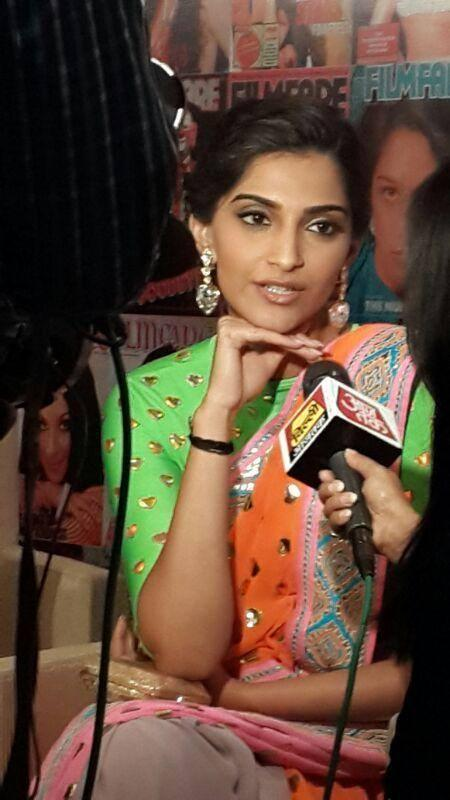Sonam Kapoor Addresses The Media At All New Filmfare Magazine Launch Press Conference
