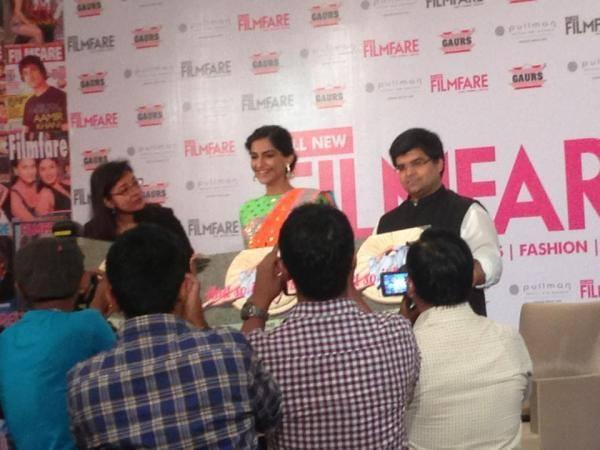 Sonam Kapoor At All New Filmfare Magazine Launch Press Conference