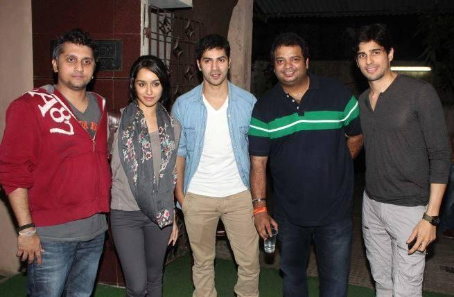 Mohit,Shraddha,Varun And Sidharth Posed For Camera During The Special Screening Of Grand Masti