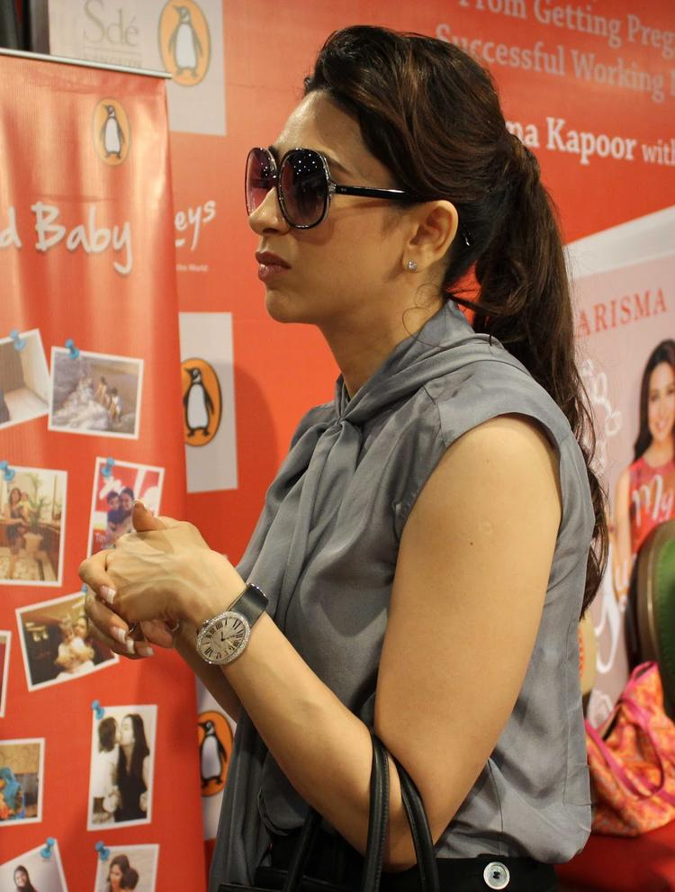 Actress Karisma Kapoor At The Launch Of Book My Yummy Mummy Guide In Mumba