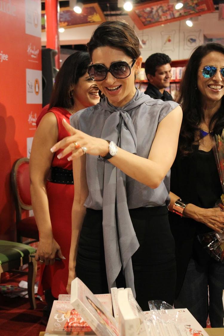 Bollywood Actor Karishma Kapoor During Launch Of Book My Yummymummy Guide In Mumbai
