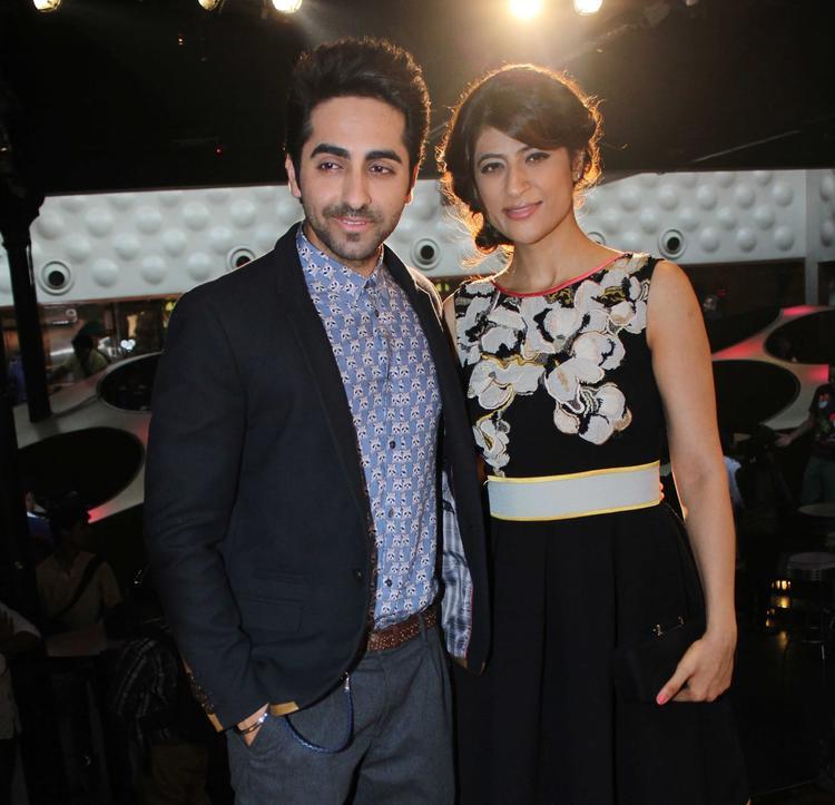Ayushmann And His Wife Tahira Pose For Photo Shoot During O Heeriye Music Album Launch Event
