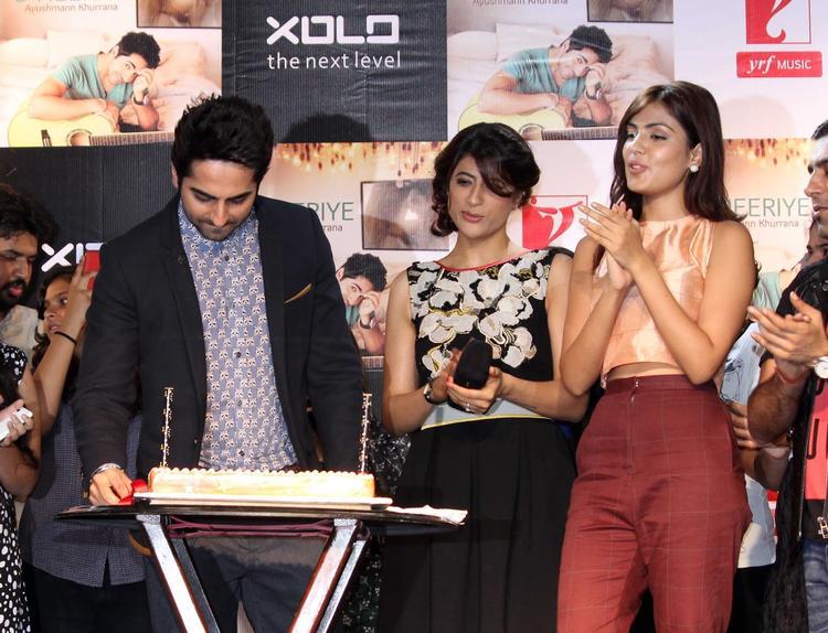 Ayushmann Celebrates Birthday With His Wife Tahira At O Heeriye Music Album Launch Event