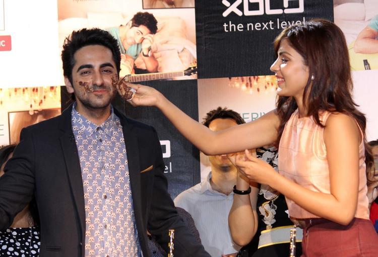 Rhea Chakraborty Celebrates Ayushmann's Birthday During The Launch Of O Heeriye Music Album