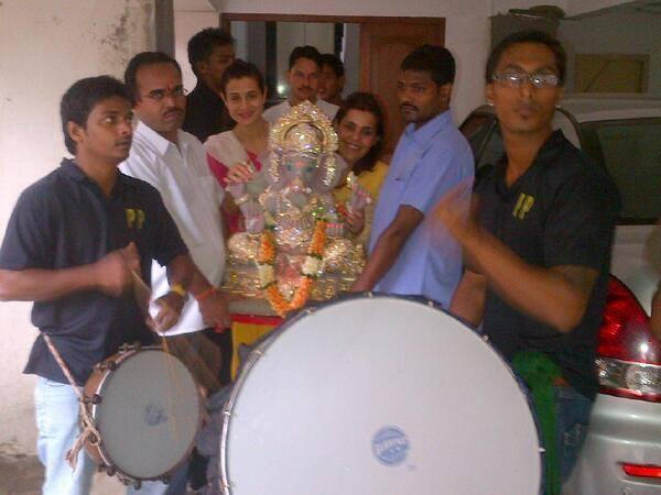 Ameesha Patel's Ganesh Chaturthi Celebrations Latest Still