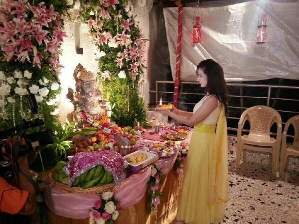 Ameesha Patel's Ganesh Chaturthi Celebrations