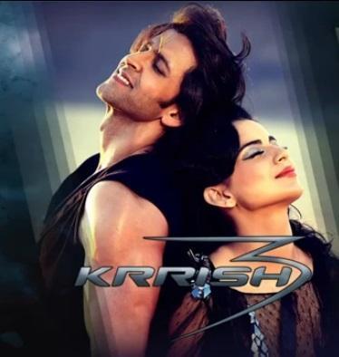 Hrithik And Kangana On Romantic Mode In Krrish 3 Movie Wallpaper