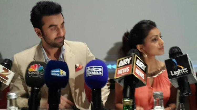 Ranbir And Pallavi Address The Media During The Promotion Of Besharam At Dubai