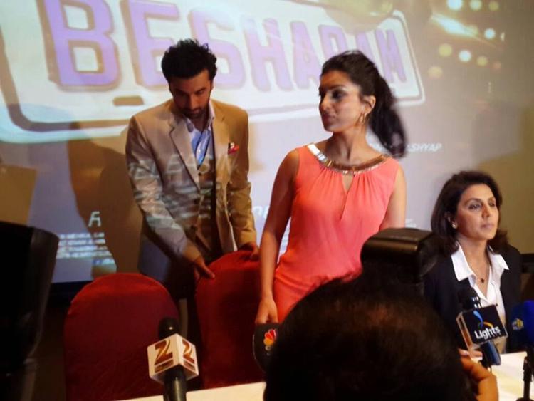 Ranbir,Pallavi And Neetu Promoting Besharam At Dubai