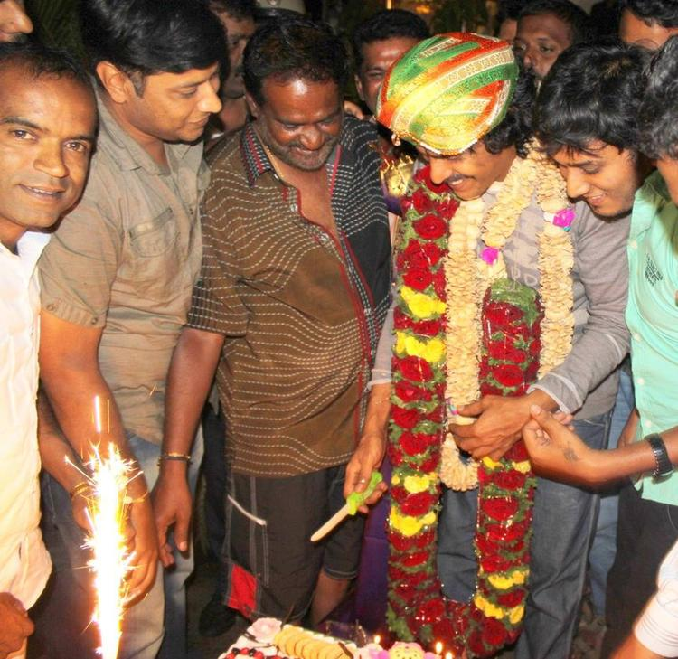 Upendra Cuts The Birthday Cake During His 45th Birthday Celebration