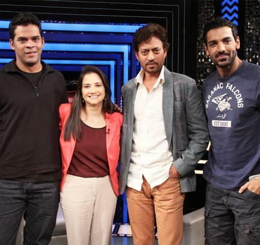 John,Vikramaditya and Irrfan At The Front Row With Anupama Chopra