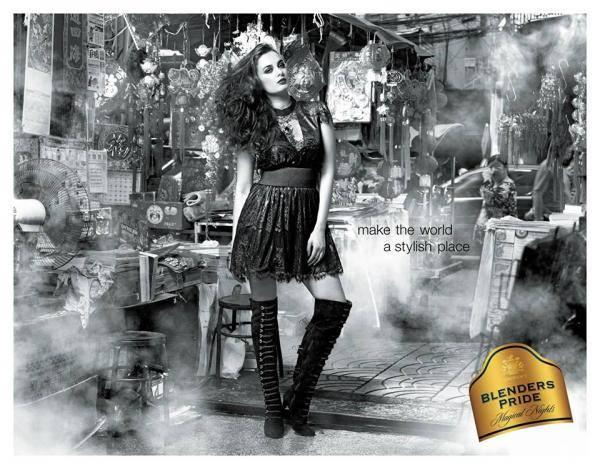 Amazing Hot Babe Evelyn Sharma For Blenders Pride Campaign 2013