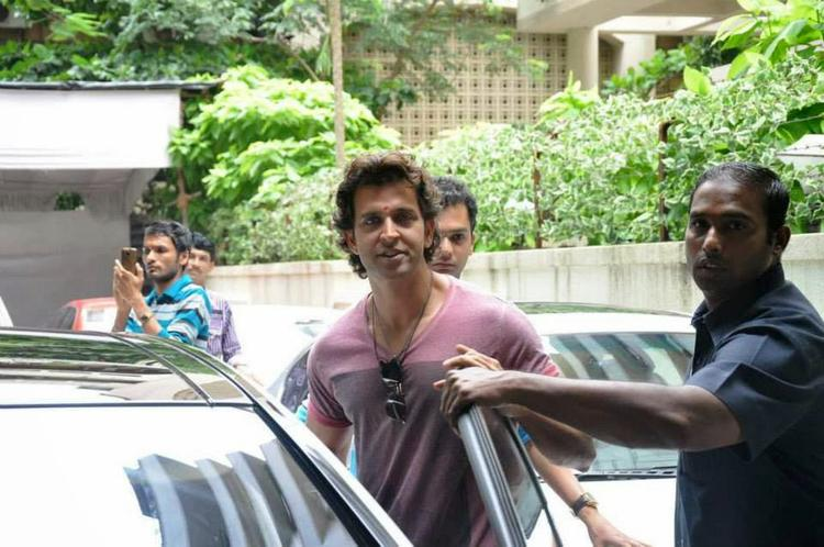 Hrithik Roshan Spotted At Ganesha Pandal For Krrish 3 Music Launch