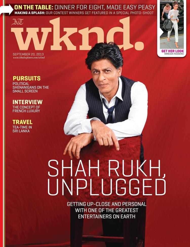 SRK Graced On Khaleej Times Weekend Magazine Interview 20th September