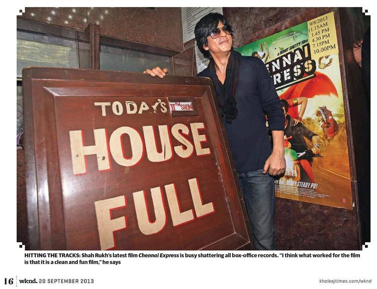 SRK Nice Pose During The Khaleej Times Weekend Magazine Interview 20th September