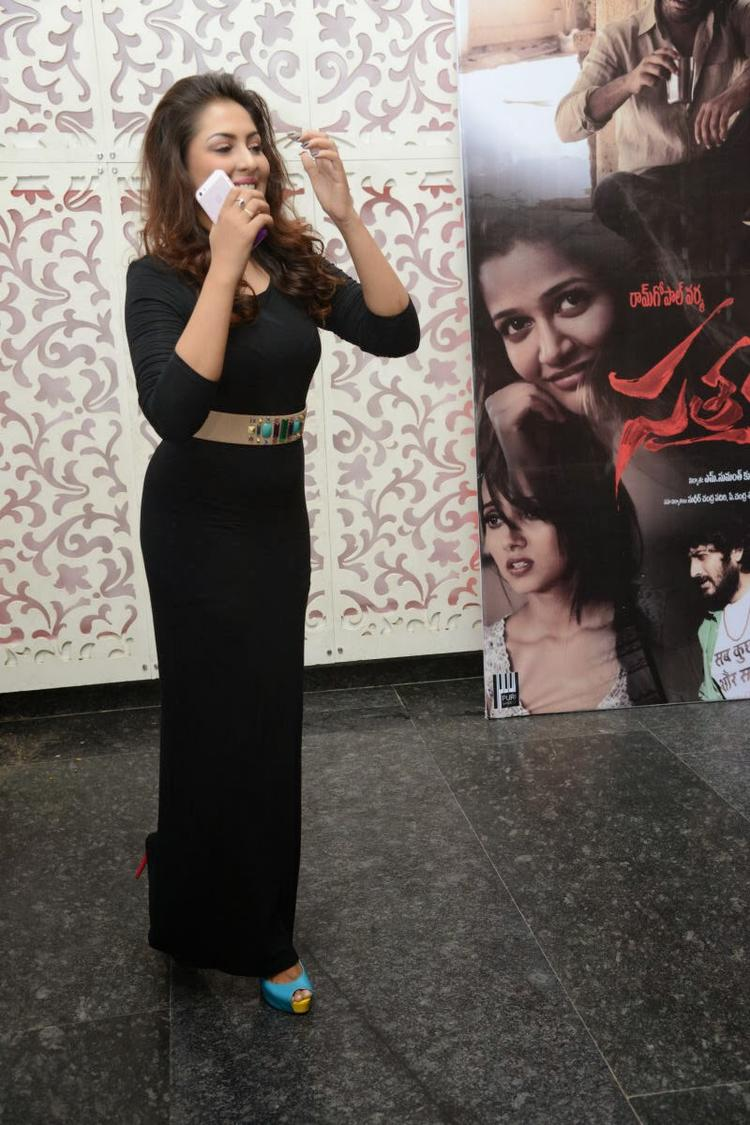 Madhu In Black Dress Glamour Look At Satya 2 Movie Audio Release Function