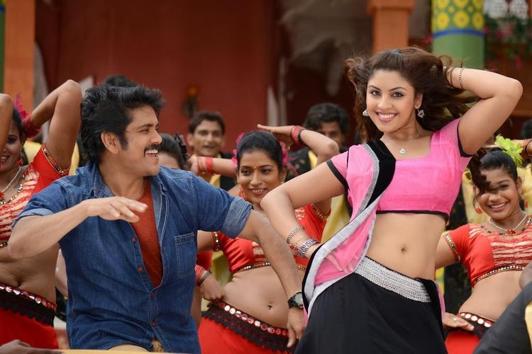 Nagarjuna And Richa A Danced Still From Bhai Movie