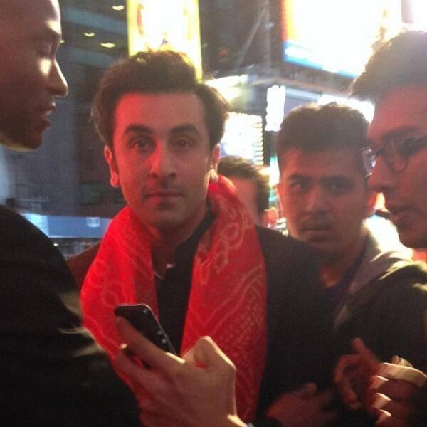 Ranbir Kapoor Handsome Look At Times Square In New York