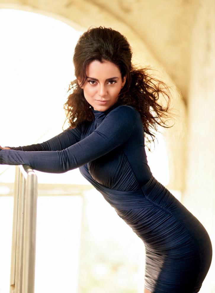 Kangna Ranaut Bold Pose For Filmfare's Fashion October 2013 Edition