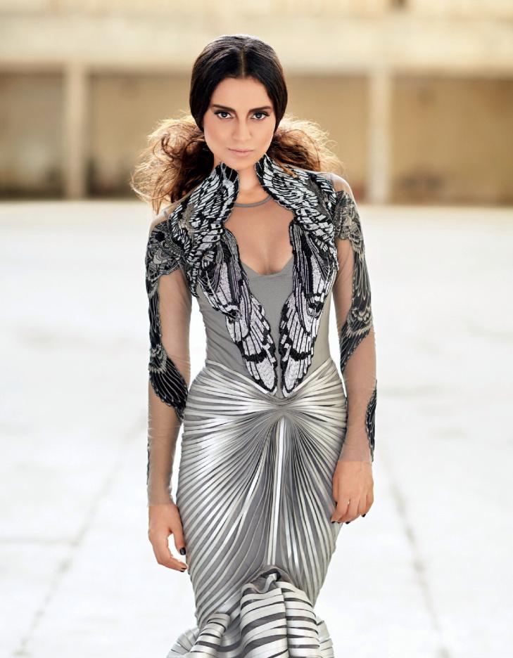 Kangna Ranaut Fashionable Sexy Look Shoot For Filmfare's Fashion October 2013 Issue