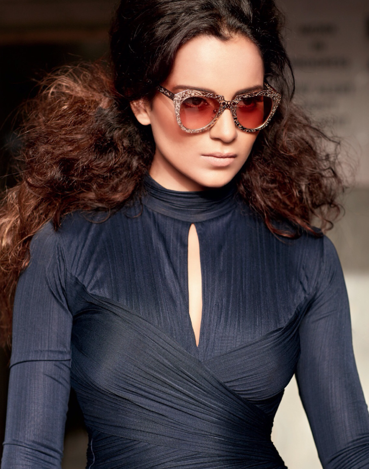 Kangna Ranaut Glamour And Stylish Look For Filmfare's Fashion October 2013 Issue