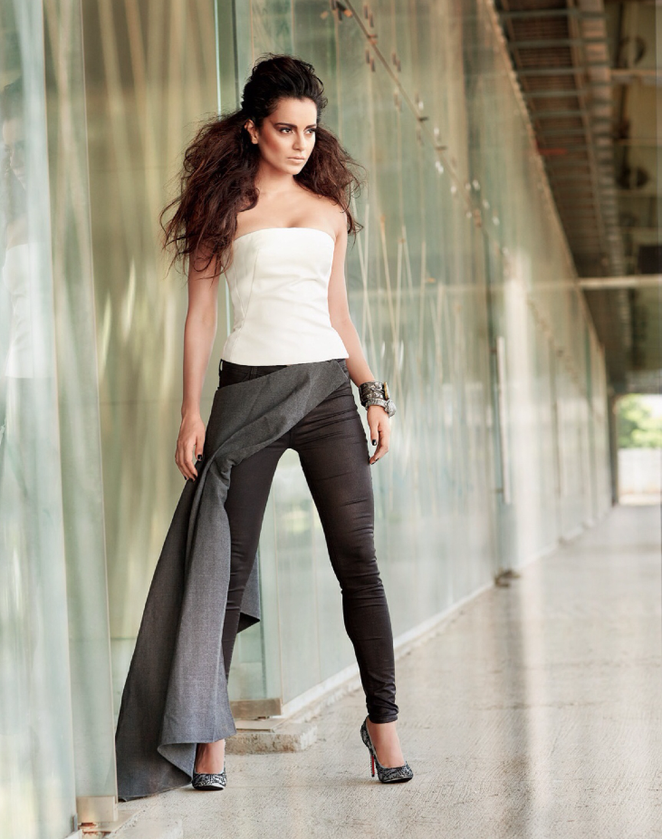 Kangna Ranaut Sizzling Look For Filmfare's Fashion October 2013 Edition