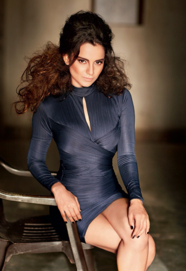 Kangna Ranaut Spicy Hot Look For Filmfare's Fashion October 2013 Issue