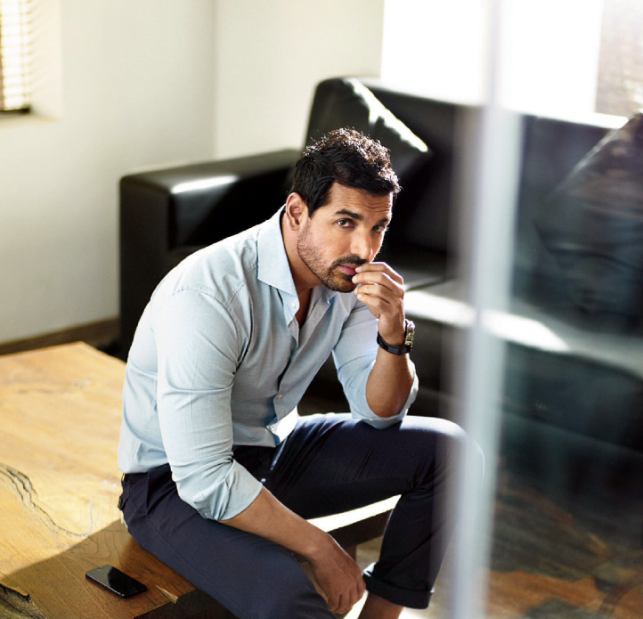 John Abraham Cute Face Look Shoot For FilmFare Magazine October 2013