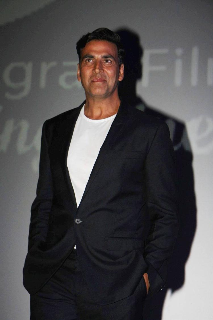 Akshay Kumar Dappers Look At 4th Jagran Film Festival Launching Event