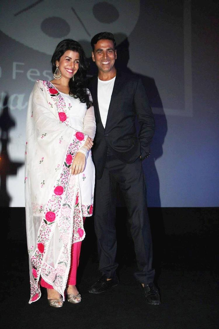 Nimrat And Akshay Posed At 4th Jagran Film Festival Launching Event