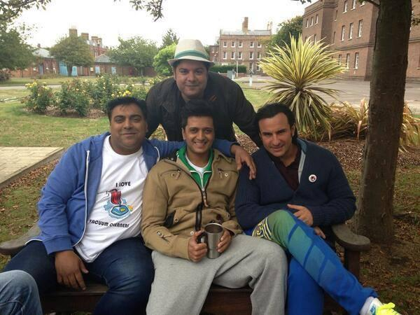 Ram,Riteish,Saif And Sajid Cool Smiling Look On The Sets Of Humshakals Movie