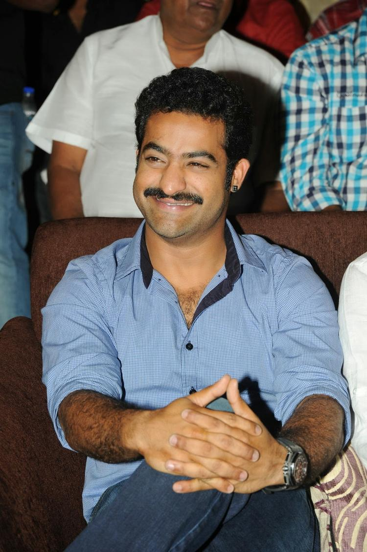 Jr. NTR Cool Smiling Look During The Audio Release Function Of Ramayya Vastavayya Movie