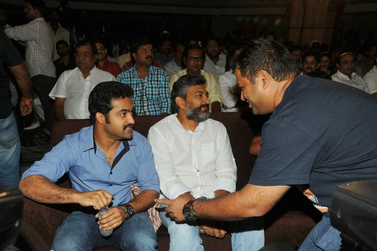 Jr. NTR And S. S. Rajamouli Enjoy The Programme At Ramayya Vastavayya Audio Release Function